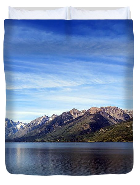 Tetons By The Lake Duvet Cover