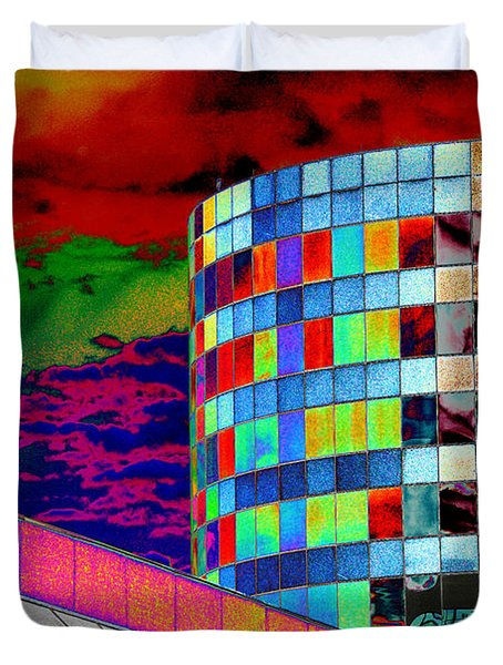 Duvet Cover featuring the photograph Tetris Clouds by Christiane Hellner-OBrien