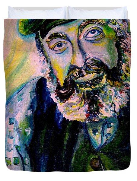 Tevye Fiddler On The Roof Duvet Cover by Carole Spandau