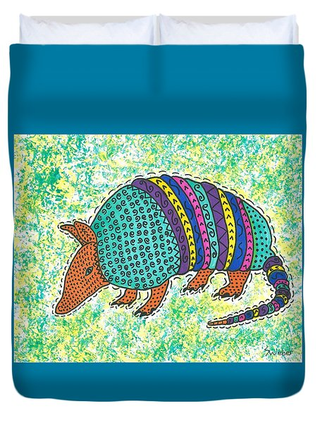 Texas Armadillo Duvet Cover