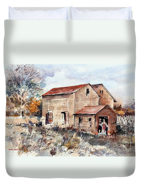 Texas Barn Duvet Cover