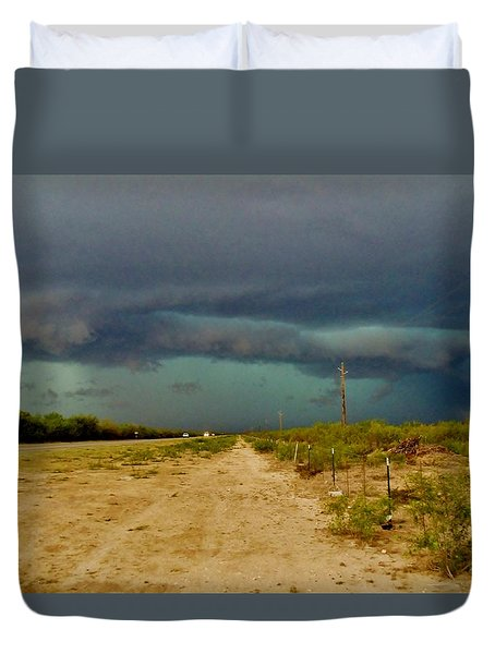 Texas Blue Thunder Duvet Cover