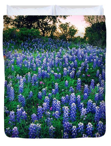 Texas Bluebonnet Field Duvet Cover by Inge Johnsson