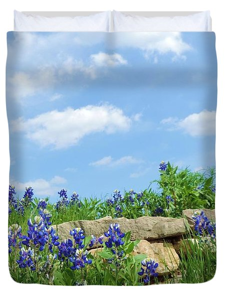 Texas Bluebonnets 08 Duvet Cover by Robert ONeil