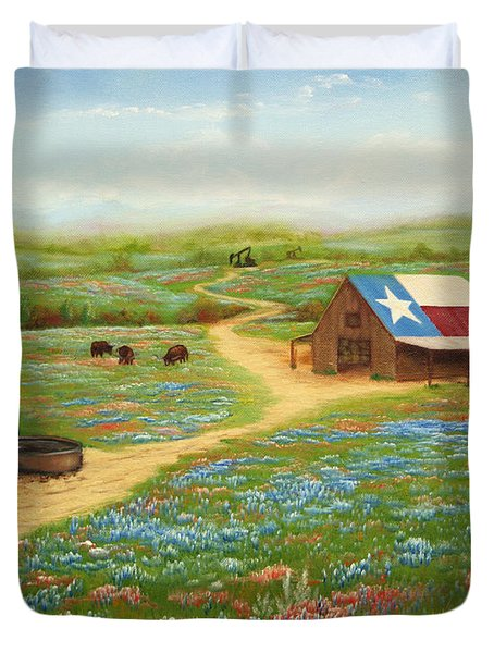 Texas Countryside Duvet Cover by Jimmie Bartlett