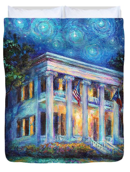 Texas Governor Mansion Painting Duvet Cover