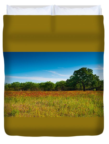 Texas Hill Country Meadow Duvet Cover