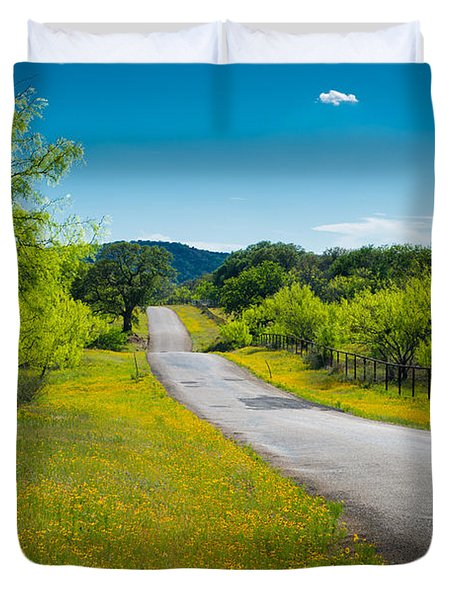 Texas Hill Country Road Duvet Cover