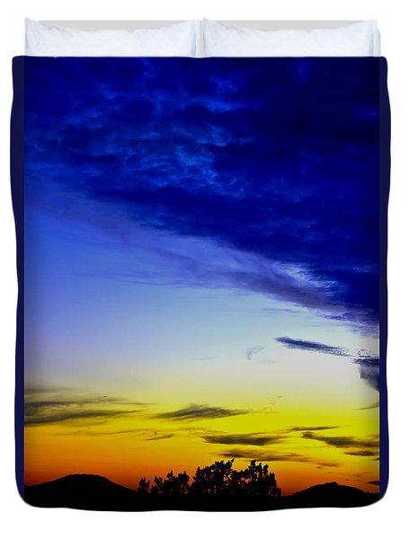 Texas Hill Country Sunset Duvet Cover