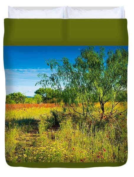 Texas Hill Country Wildflowers Duvet Cover