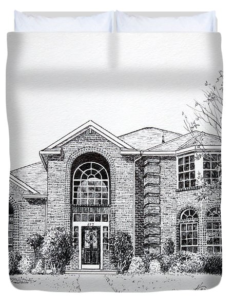 Texas Home 2 Duvet Cover by Hanne Lore Koehler