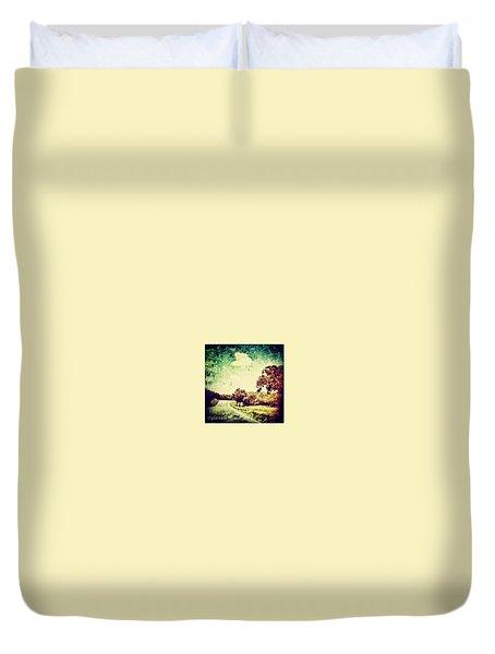 Texas Hwy 29 Duvet Cover