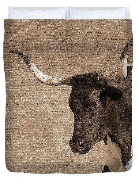 Texas Longhorn #6 Duvet Cover by Betty LaRue