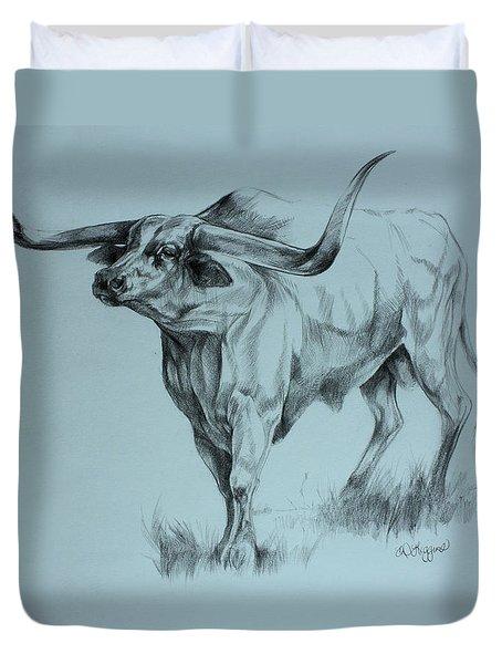 Texas Longhorn Duvet Cover by Derrick Higgins