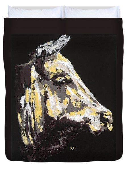 Texas Longhorn Profile Duvet Cover