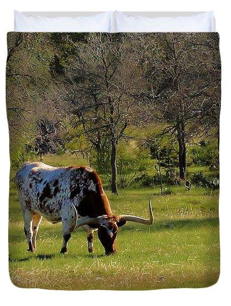 Texas Longhorns Duvet Cover by Janette Boyd