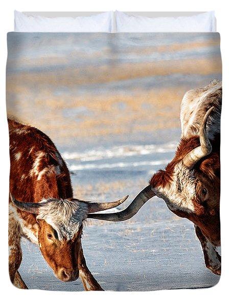 Texas Longhorns Duvet Cover by Lena  Owens OLena Art