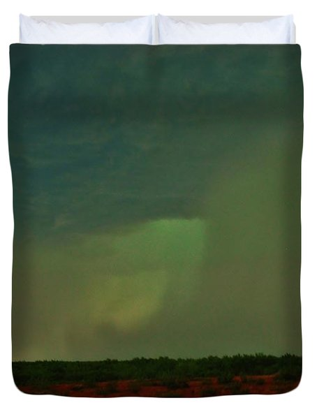 Duvet Cover featuring the photograph Texas Microburst by Ed Sweeney