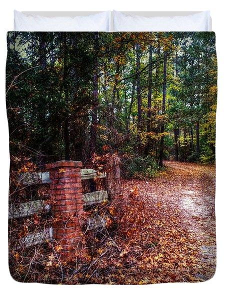Texas Piney Woods Duvet Cover