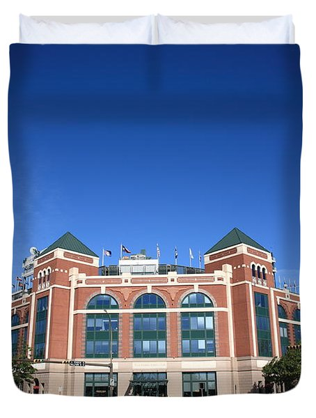 Texas Rangers Ballpark In Arlington Duvet Cover