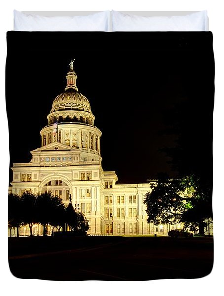 Duvet Cover featuring the photograph Texas State Capitol by Dave Files
