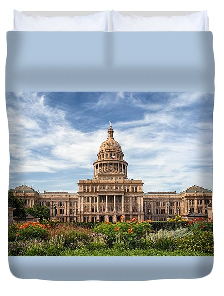 Texas State Capitol II Duvet Cover