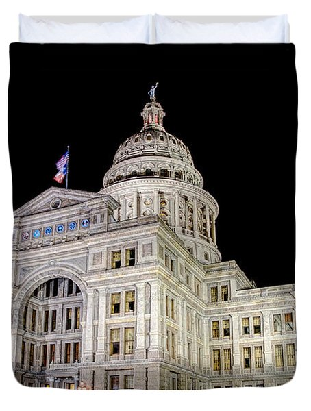 Texas State Capitol Duvet Cover by Tim Stanley