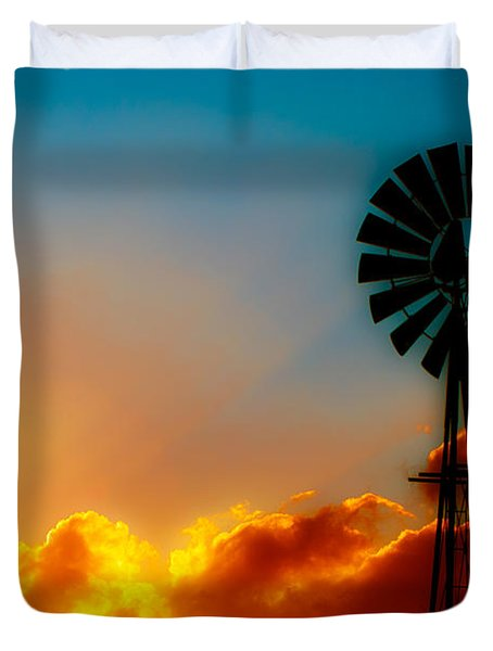 Texas Sunrise Duvet Cover