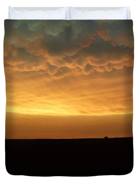 Duvet Cover featuring the photograph Texas Sunset by Ed Sweeney