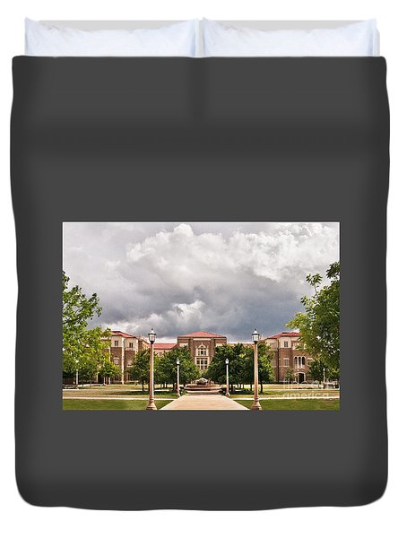 Duvet Cover featuring the photograph School Of Education by Mae Wertz