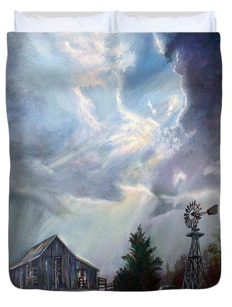 Texas Thunderstorm Duvet Cover