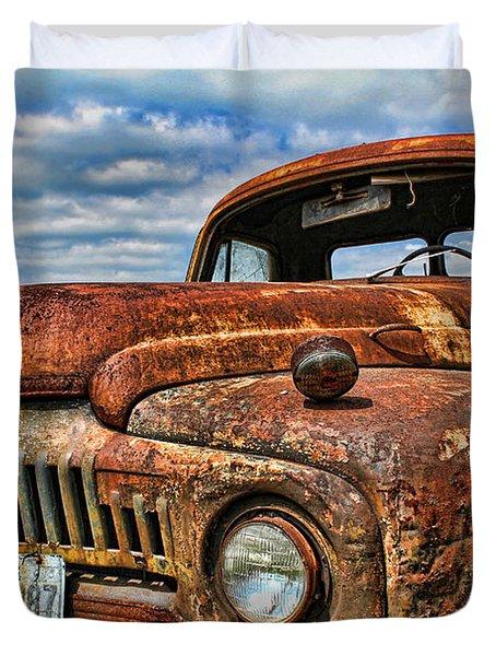 Duvet Cover featuring the photograph Texas Truck by Daniel Sheldon