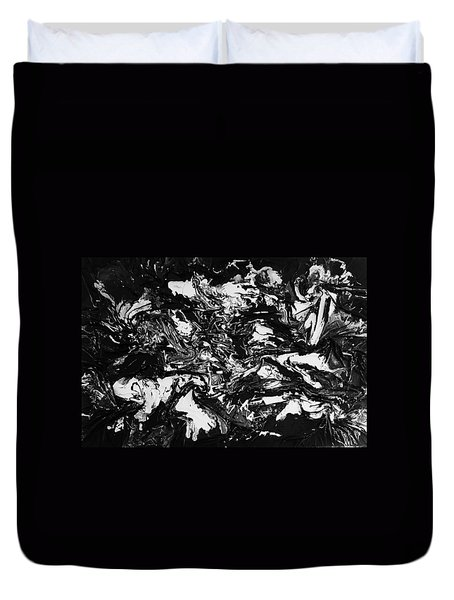 Textured Black And White Series 1 Duvet Cover
