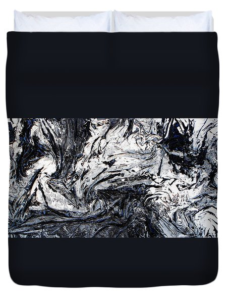 Textured Black And White Series 2 Duvet Cover
