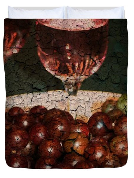 Textured Grapes Duvet Cover