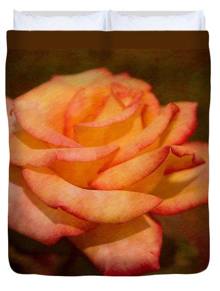 Textured Star Rose Duvet Cover