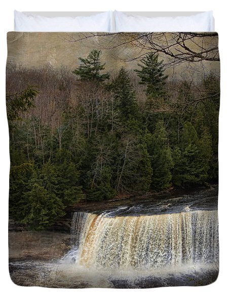 Textured Tahquamenon River Michigan Duvet Cover