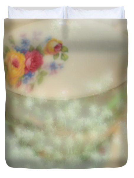 Textured Tea Cup Duvet Cover by Barbara S Nickerson
