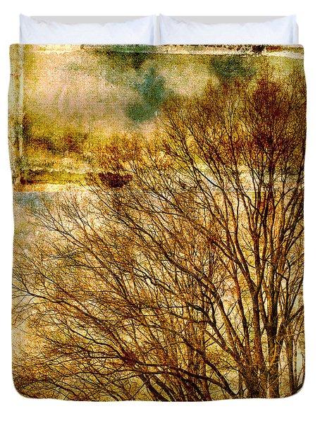 Textured Tree Duvet Cover