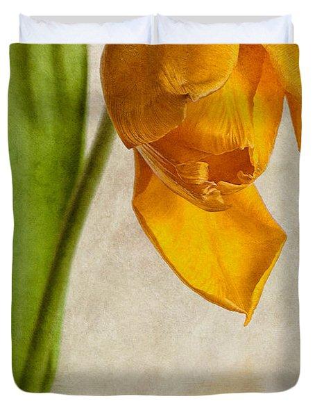 Textured Tulip Duvet Cover by John Edwards