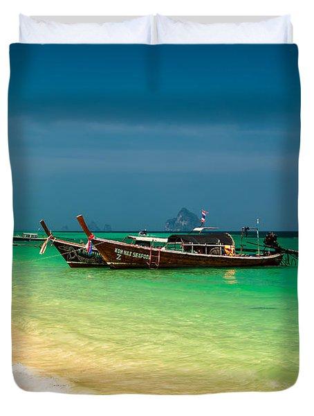 Thai Longboats Duvet Cover by Adrian Evans
