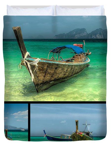 Thailand Longboats Duvet Cover