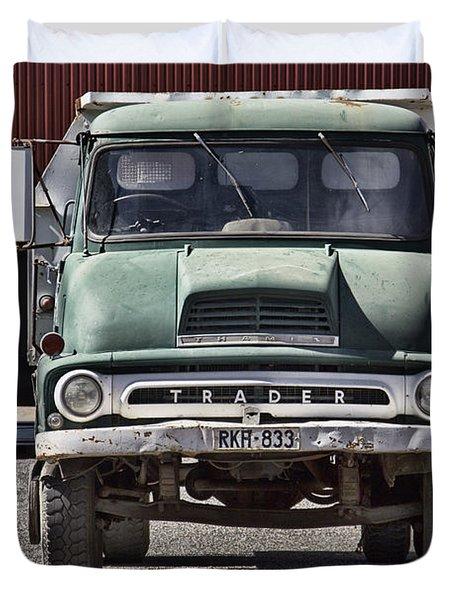 Thames Trader Vintage Truck Duvet Cover by Douglas Barnard