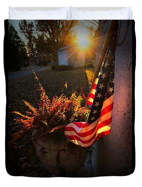 Duvet Cover featuring the photograph Thank You For Serving by Robert McCubbin