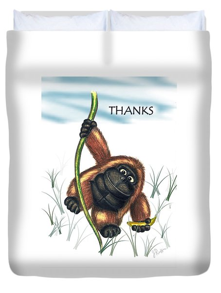 Thanks Duvet Cover by Jerry Ruffin