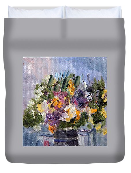 Thanksgiving Bouquet Duvet Cover