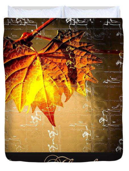 Thanksgiving Card Duvet Cover