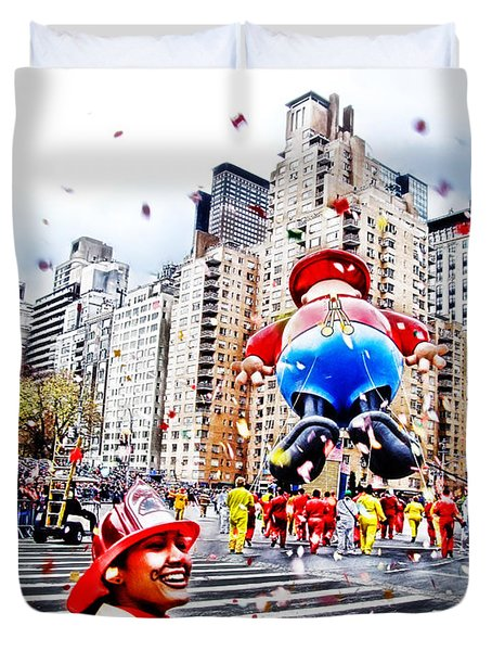 Thanksgiving Parade Duvet Cover by Nishanth Gopinathan