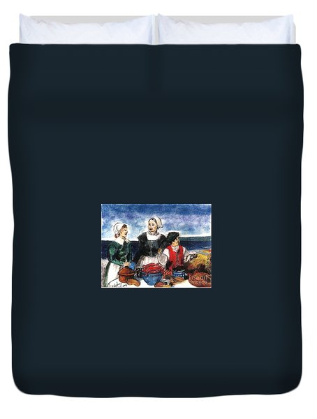 Thanksgiving Supper Duvet Cover