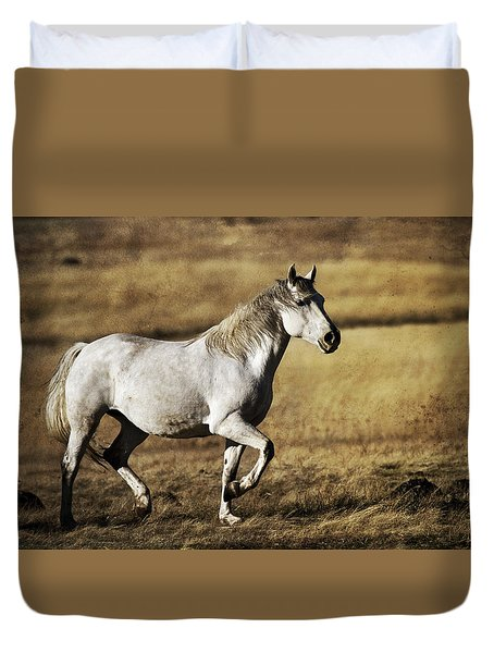 Duvet Cover featuring the photograph That Golden Hour D3550 by Wes and Dotty Weber